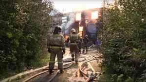Пожар уничтожил частный двухэтажный дом в Архангельске