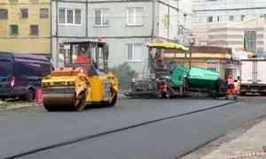 В Архангельске полным ходом идет ремонт внутриквартальных проездов и дворовых территорий