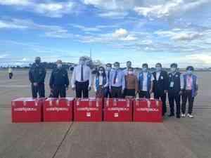 Спецбортом МЧС России доставлена гуманитарная помощь населению Лаоса