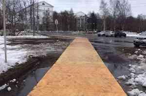 К Арктическому форуму в Архангельске снова сколотят уличный «паркет»