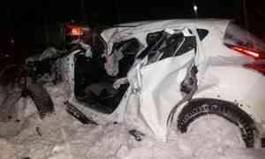 ВДТП с лесовозом под Котласом погибла женщина-водитель