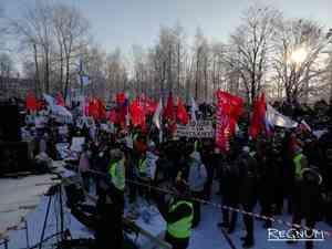 Антимусорный митинг в Архангельске собрал 3 тысяч человек