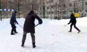 Внескольких дворах Архангельска залили спортивные площадки