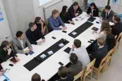 Ректор САФУ встретилась с молодыми учеными