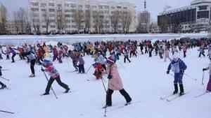 Рекордное количество архангелогородцев приняло участие в «Лыжне России»