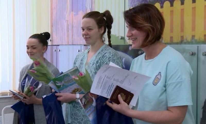 Cегодня вобластном перинатальном центре торжественно вручили свидетельства орождении