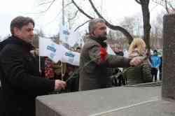 У главного корпуса САФУ почтили память Михаила Ломоносова