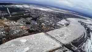 Великий Устюг пройден: Ледоход приближается к рекам Архангельской области