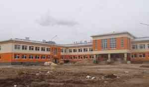 В Мезени по-прежнему идёт строительство новой школы