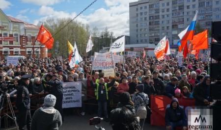 Оборона Шиеса: более 2 тысяч человек собрал митинг в Архангельске