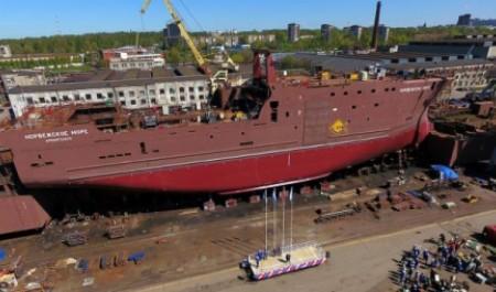 В Выборге спустили на воду траулер для Архангельского тралового флота