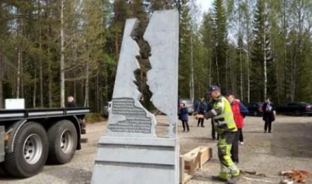 В Финляндии установили памятник батальону архангельских лыжников