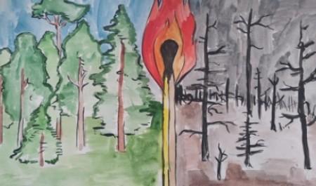 500 работ поступило на конкурс «Останови огонь!»