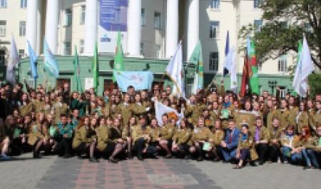 Бойцы студотрядов получили путевки в третий трудовой семестр