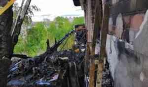 12 балконов и квартир повреждены огнем в Архангельске