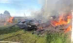 Пожарные отстояли газовую котельную и трансформаторную подстанцию (Котласский район)