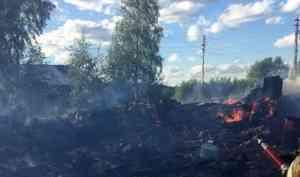 Неосторожное обращение сгазом— вероятная причина крупного пожара вКоношском районе