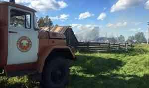 В Коношском районе после взрыва газовых баллонов сгорел жилой дом