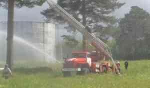 Пожар в резервуаре с горючим: в Котласском районе прошли учения пожарных