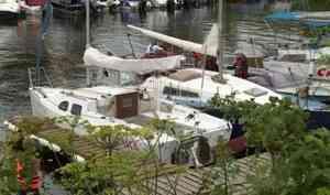 ВАрхангельске отпричалов парусного центра «Норд» отошли яхты-участницы шестой Двинской регаты