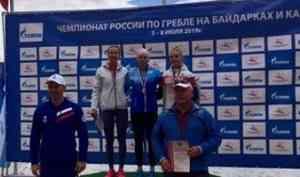 Байдарочница Наталья Подольская взяла золото, серебро и бронзу чемпионата России