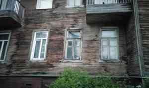 Администрация Архангельска решит вопрос о переселении жильцов сошедшего со свай дома