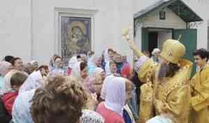 Митрополит Даниил в праздник 12 апостолов совершил Литургию в Холмогорах