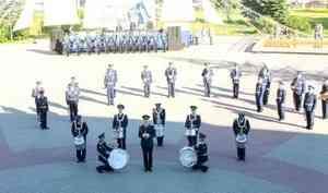 В Архангельске духовые оркестры как всегда в День ВМФ