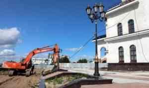 В Архангельске началось благоустройство территории вокруг Кафедрального собора
