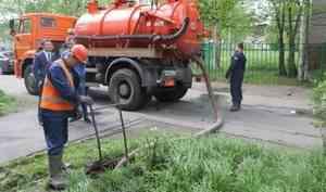 В Архангельске промывают канализацию