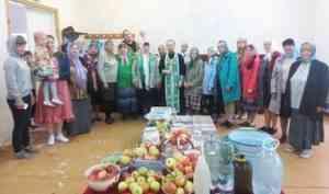 Богослужение в Преображение прошло в молитвенной комнате в архангельском Турдеево