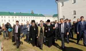 Патриарх Кирилл оценил ход реставрации Соловецкой обители