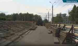 ВАрхангельске ремонтируют ступени наплощади Ленина