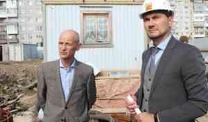 Артем Вахрушев проинспектировал строящиеся в столице Поморья социальные объекты