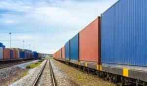 Первый контейнерный поезд в Китай отправлен с Северной железной дороги