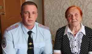 Северодвинский полицейский вывел излеса заблудившуюся пенсионерку
