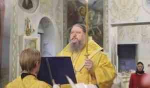 Митрополит Корнилий совершил вечернее богослужение с акафистом Господу Иисусу в Ильинском соборе