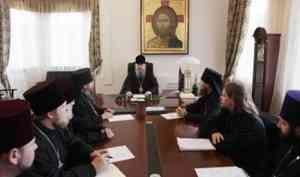 Митрополит Корнилий провел совещание с духовенством в Епархиальном управлении
