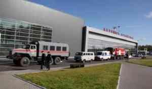 ВАрхангельске аэропорт оцепили силовики