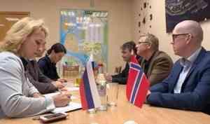 Развитие побратимских связей обсуждали сегодня в Архангельске на встрече с делегацией из города Вардё