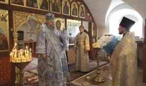 Митрополит Корнилий в праздник Рождества Богородицы совершил Литургию в Холмогорах