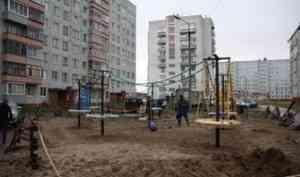 Благоустройство дворовых и общественных территорий в Поморье завершат до конца октября