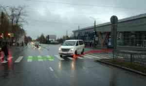 В Архангельске сбили пенсионерку, переходившую дорогу на «зелёный»