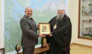Митрополит Корнилий и губернатор Игорь Орлов обсудили планы взаимодействия епархии и правительства области