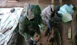 В Архангельске на археологических раскопках нашли могилу женщины с ребенком
