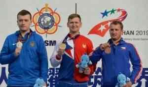 Стрелок Леонид Екимов завоевал золото и серебро на VII Всемирных военных играх в Китае