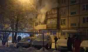 В сгоревшей квартире на Левом берегу Архангельска пострадал человек