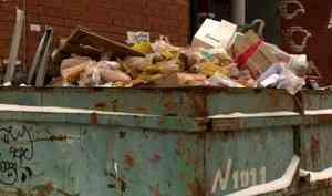 ВАрхангельске водном измусорных контейнеров жители обнаружили десятки буханок упакованного хлеба