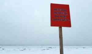 За прогулку по тонкому льду архангелогородцам грозит штраф до 1000 рублей