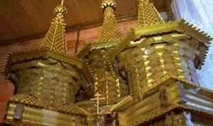 Новый пятишатровый деревянный храм построили вАрхангельске